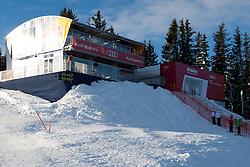 18.01.2012, Hahnenkamm, Kitzbuehel, AUT, FIS Weltcup Ski Alpin, 72. Hahnenkammrennen, Herren, Abfahrt 2. Training, im Bild feature vom Starthaus auf der Streif // feture of starthouse during Downhill 2nd practice of 72th Hahnenkammrace of FIS Ski Alpine World Cup at 'Streif' course in Kitzbuhel, Austria on 2012/01/18. EXPA Pictures © 2012, PhotoCredit: EXPA/ Johann Groder