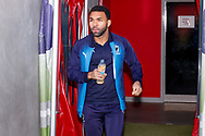Wimbledon midfielder Andy Barcham (17) arrives during the EFL Sky Bet League 1 match between Doncaster Rovers and AFC Wimbledon at the Keepmoat Stadium, Doncaster, England on 17 November 2018.