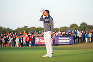 Bernd Wiesberger (AUT) wins the play-off of the Aberdeen Standard Investments Scottish Open at The Renaissance Club, North Berwick, Scotland on 14 July 2019.