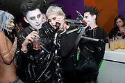 JACK GUINNESS; HENRY HOLLAND; PIXIE GELDOF;  Browns Focus Halloween party. Shepherds Bush pavilion. Shepherds Bush. London. 30 October 2009