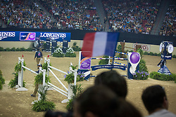 Longines obstacle<br /> Longines FEI World Cup™ Jumping Final III round 1<br /> Las Vegas 2015<br />  © Hippo Foto - Dirk Caremans<br /> 19/04/15