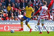 Anfernee Dijksteel of Charlton Athletic (2) in action during the EFL Sky Bet League 1 play off first leg match between Doncaster Rovers and Charlton Athletic at the Keepmoat Stadium, Doncaster, England on 12 May 2019.