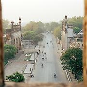 High viewpoint down to the Great Imambara, Lucknow, Uttar Pradesh, India
