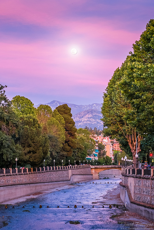 The Darro is a river of the province of Granada, Spain. It is a tributary of the Genil. The river was originally named after the Roman word for gold because people used to pan for gold on its banks.