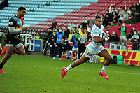 Rugby Union - 2020 / 2021 European Rugby Heineken Cup - Pool 2 - Harlequins vs Racing 92 - The Stoop<br /> <br /> Teddy Thomas of Racing scores try no. 1 - <br /> <br /> COLORPSORT/ANDREW COWIE