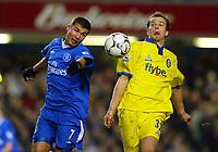 Photo: Scott Heavey.<br /> Chelsea v Birmingham City. FA Barclaycard Premiership. 18/01/2004.<br /> Adrian Mutu and Stephen Clemence (R) battle for the ball