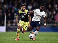Football - 2019 / 2020 Emirates FA Cup - Fourth Round, Replay: Tottenham Hotspur vs. Southampton<br /> <br /> Southampton's Ryan Bertrand holds off the challenge from Tottenham Hotspur's Serge Aurier, at The Tottenham Hotspur Stadium.<br /> <br /> COLORSPORT/ASHLEY WESTERN