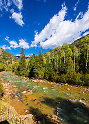 The Animas River, San Juan National Forest, Colorado USA