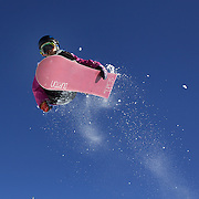 Shota Senzaki, Japan, in action during the Men's Halfpipe competition at the Burton New Zealand Open 2011 held at Cardrona Alpine Resort, Wanaka, New Zealand, 10th August 2011. Photo Tim Clayton