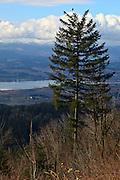 USA, Oregon, Bald Peak State Park, the Willamette Valley, Digital Composite, HDR