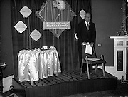 """07/06/1962<br /> 06/07/1962<br /> 07 June 1962 <br /> """"Light and Lovely"""" new Coty Make-up range, reception at the Shelbourne Hotel, Dublin. Mr. N.R. Goodbody, Managing Director, Goodbody Ltd., speaking at the event."""