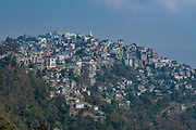 Houses perched on the hills, Aizawl. Mizoram, India