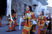Italie. Sardaigne. Desulo. Procession du Corpus Domini. //  Corpus Domini procession. Desulo. Sardinia. Italie.