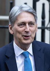 © Licensed to London News Pictures. 30/01/2019. London, UK. Chancellor of the Exchequer Philip Hammond leaves 11 Downing Street to attend Prime Minister's Questions. Photo credit : Tom Nicholson/LNP