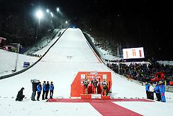 January 20, 2018 - Oberstdorf, GERMANY - 180120 Daniel-André Tande of Norway during the price ceremony after his win in the FIS Ski Flying World Championships on January 20, 2018 in Oberstdorf..Photo: Vegard Wivestad Grøtt / BILDBYRÃ…N / kod VG / 170080 (Credit Image: © Vegard Wivestad GrØTt/Bildbyran via ZUMA Wire)