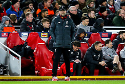 Liverpool manager Jurgen Klopp - Mandatory by-line: Robbie Stephenson/JMP - 11/03/2020 - FOOTBALL - Anfield - Liverpool, England - Liverpool v Atletico Madrid - UEFA Champions League Round of 16, 2nd Leg