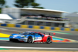 June 17, 2017 - Le Mans, Sarthe, France - Ford Chip Ganassi Team Michelin Ford GT.ANDY PRIAULX (GBR) in action during the race of the 24 hours of Le Mans on the Le Mans Circuit - France (Credit Image: © Pierre Stevenin via ZUMA Wire)