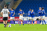 CELE Cardiff City's Harry Wilson (23) celebrates scoring his side's third goal with his team mates during the EFL Sky Bet Championship match between Cardiff City and Barnsley at the Cardiff City Stadium, Cardiff, Wales on 3 November 2020.