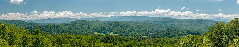 View at the Great Smoky Mountains Overlook on the Foothills Parkway in Great Smoky Mountains National Park in Walland, Tennessee on Wednesday, August 12, 2020. Copyright 2020 Jason Barnette