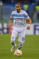 September 20, 2018 - Rome, Lazio, Italy - 20th September 2018, Stadio Olimpico, Rome, Italy; UEFA Europa League football, Lazio versus Apollon Limassol; Martin Caceres of Lazio controls the ball  Credit: Giampiero Sposito/Pacific Press (Credit Image: © Giampiero Sposito/Pacific Press via ZUMA Wire)
