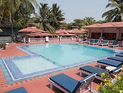 Swimming pool at Leoney Resort, Vagator, Goa