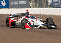 March 9, 2019 - St. Petersburg, FL, U.S. - ST. PETERSBURG, FL - MARCH 09: Andretti Herta Autosport with Curb-Agajanian driver Marco Andretti (98) of United States during the NTT IndyCar Series - Firestone Grand Prix Qualifying on March 9 in St. Petersburg, FL. (Photo by Andrew Bershaw/Icon Sportswire) (Credit Image: © Andrew Bershaw/Icon SMI via ZUMA Press)