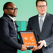 NLD/Amsterdam/20151202 - Koninklijke Familie bij uitreiking Prins Claus Prijs 2015, Jean-Pierre Bekolo