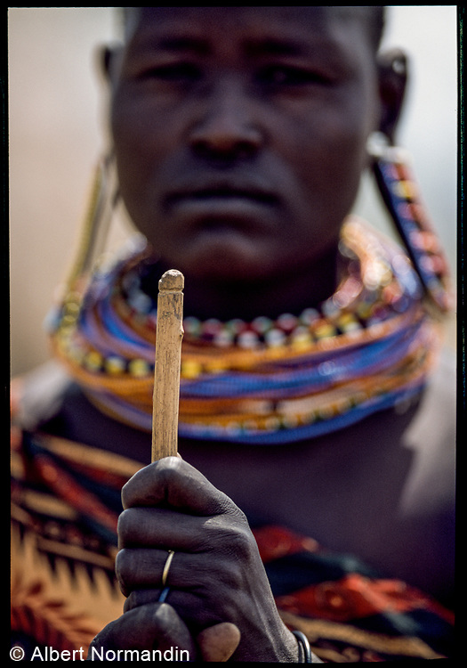 Mjemps Woman Stick, Kenya, July, 2002
