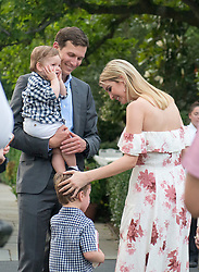 Senior Advisor Jared Kushner and Assistant to the President Ivanka Trump and their family at the annual Congressional Picnic on the South Lawn of the White House in Washington, DC, USA, on Thursday, June 22, 2017. Photo by Ron Sachs/CNP/ABACAPRESS.COM