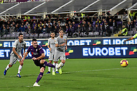 Jordan Veretout of Fiorentina scores a goal on penalty  during the Serie A 2018/2019 football match between ACF Fiorentina and AS Roma at stadio Artemio Franchi, Firenze, November 03, 2018 <br />  Foto Andrea Staccioli / Insidefoto