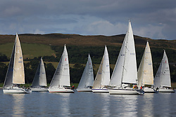 Peelport Clydeport, Largs Regatta Week 2014 Largs Sailing Club based at  Largs Yacht Haven <br /> <br /> Class 2 Start with Class 5 in light airs.