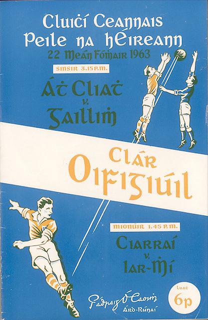1963 Official GAA programme brochure. Dublin v Galway, Kerry v Meath.
