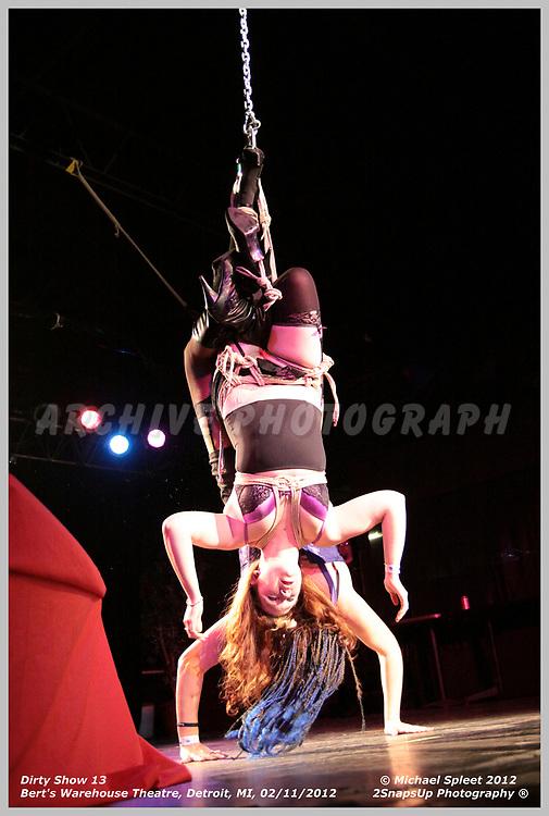DETROIT, MI, SATURDAY, FEB. 11, 2012: Dirty Show 13, Illiana at Bert's Warehouse Theatre, Detroit, MI, 02/11/2012.  (Image Credit: Michael Spleet / 2SnapsUp Photography)