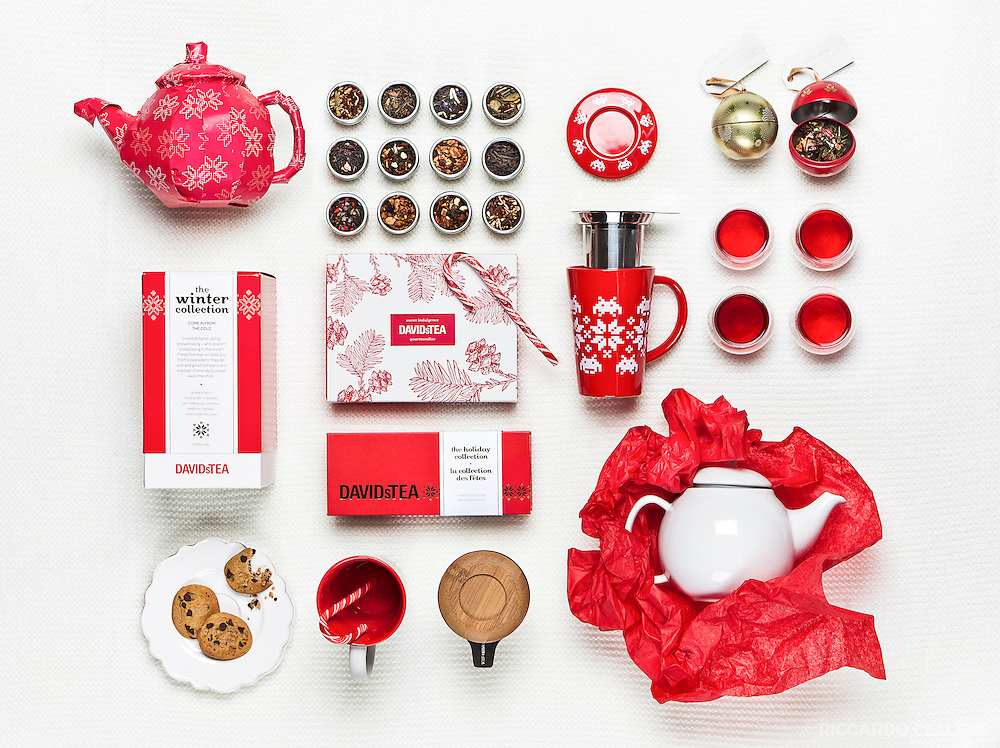Product photography. Tea and tea accessories for DAVIDsTEA. 2013.