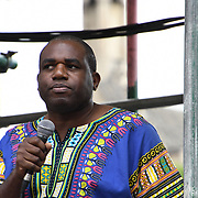 Speaker David Lammy MP rally at Whitehall against Tommy Robinson, Trump and the far-right at Old Palace Yard, London, UK. July 14 2018.