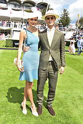 29 July 2021 - The QATAR Goodwood Festival Ladies Day at Goodwood Racecourse, West Sussex.<br /> Picture Shows -  Lord William Gordon-Lennox and Eleanor Lambert.<br /> <br /> NON EXCLUSIVE - WORLD RIGHTS