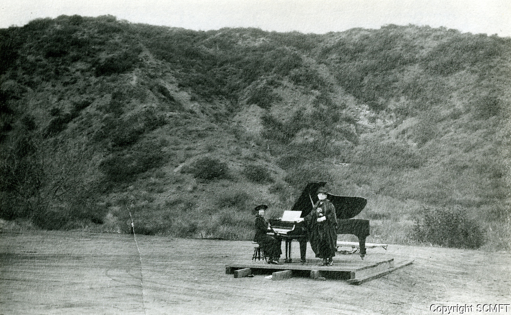 1921 Testing the acoustics at The Hollywood Bowl