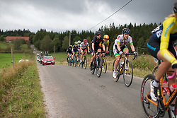 Alexis Ryan (USA) of CANYON//SRAM Racing rides on the second gravel section of the Crescent Vargarda - a 152 km road race, starting and finishing in Vargarda on August 13, 2017, in Vastra Gotaland, Sweden. (Photo by Balint Hamvas/Velofocus.com)