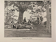 """Wounded Union Soldiers from The American Civil War book and Grant album : """"art immortelles"""" : a portfolio of half-tone reproductions from rare and costly photographs designed to perpetuate the memory of General Ulysses S. Grant, depicting scenes and incidents in connection with the Civil War Published  in Boston and New York by W. H. Allen in 1894"""