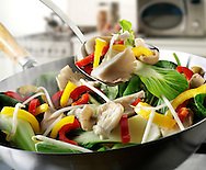 Chinese stir fry vegetables in a wok - Stock food photos