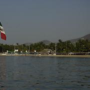 Parque Papagayo from the ocean. Acapulco, Guerrero. Mexico.
