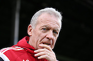 Alan Curtis, the interim manager of Swansea City looks on from the touchline. Barclays Premier League match, Crystal Palace v Swansea city at Selhurst Park in London on Monday 28th December 2015.<br /> pic by John Patrick Fletcher, Andrew Orchard sports photography.