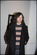 BOBBY GILLESPIE, Private view, Paul Simonon- Wot no Bike, ICA Nash and Brandon Rooms, London. 20 January 2015