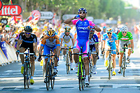 CYCLING - TOUR DE FRANCE 2010 - REIMS (FRA) - 07/07/2010 - PHOTO : VINCENT CURUTCHET / DPPI - <br /> STAGE 4 - CAMBRAI > REIMS - ALESSANDRO PETACCHI (ITA) / LAMPRE / WINNER