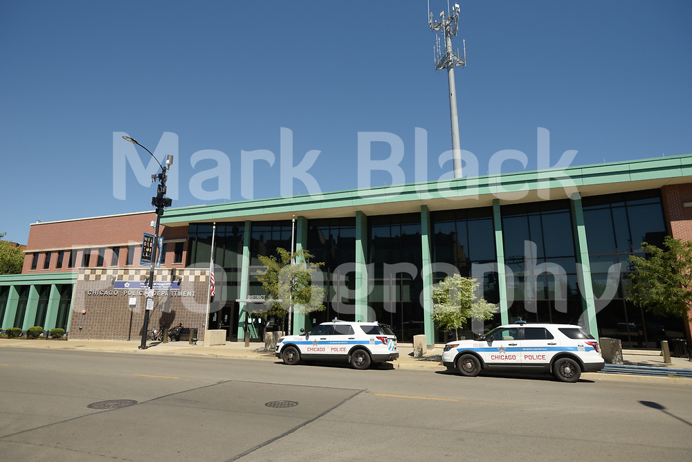 The Chicago Police Department (CPD) 19th District Station in Chicago, Illinois on Friday, Sept. 4, 2020. Photo by Mark Black