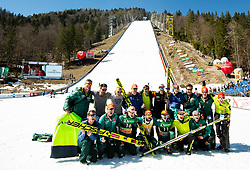 Photo of Team Germany after the Ski Flying Hill Individual Competition at Day 4 of FIS Ski Jumping World Cup Final 2019, on March 24, 2019 in Planica, Slovenia. Photo by Vid Ponikvar / Sportida