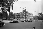 The new U.S. Embassy in Ballsbridge was officially opened by Congressman Wayne L. Hays of Ohio.  .23.05.1964