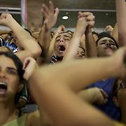Fluminense fans support their side with load singing during the Fluminense V  Palmeiras, Futebol Brasileirao  League match at the Jornalista Mário Filho Maracana Stadium, The match ended in a 1-1 draw, Rio de Janeiro,  Brazil. 2nd September 2010. Photo Tim Clayton.