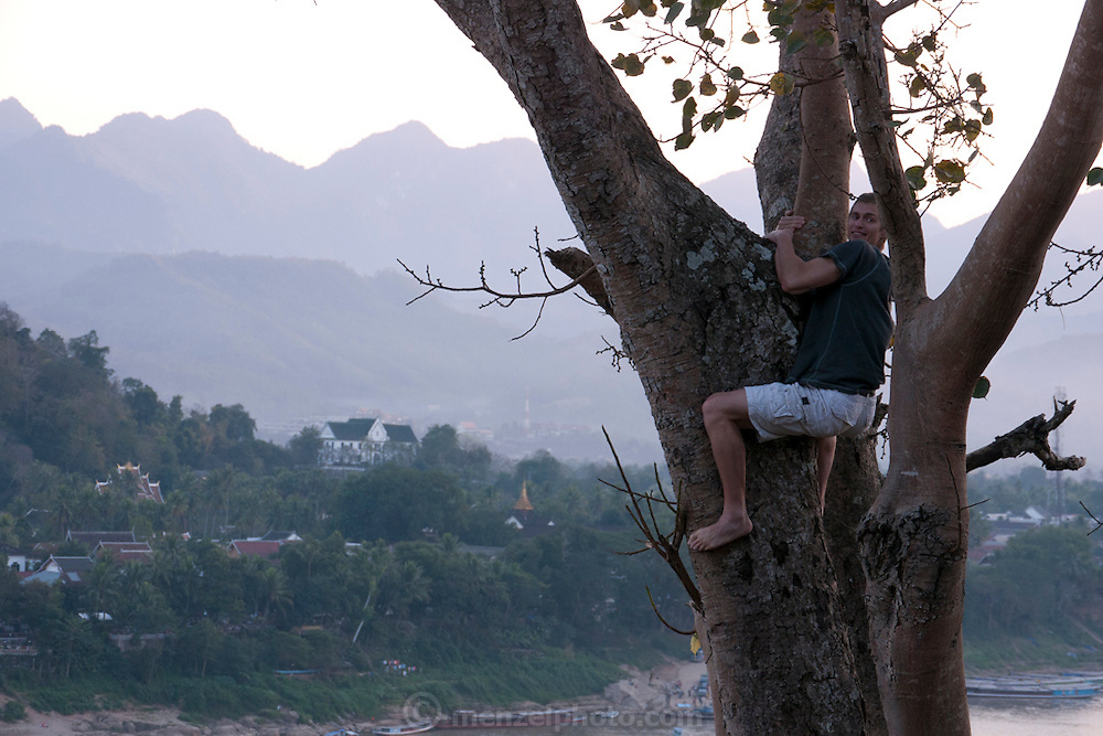 The other side of the Mekong River from Luang Prabang, Laos.