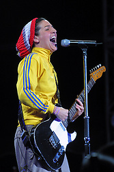 Scottish band Texas fronted by Sharleen Spiteri, on the main stage at T in the Park 2001, Balado, Fife, on 8/7/2001..© Michael Schofield..